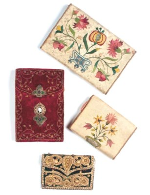 A LETTER WALLET OF IVORY SILK
