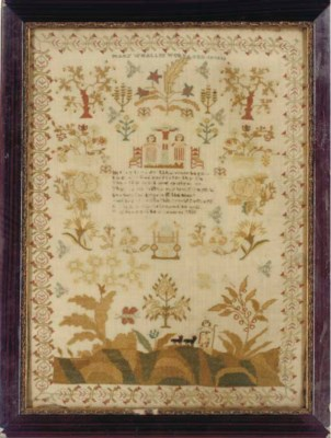 A SAMPLER BY MARY WHALLEY DATE