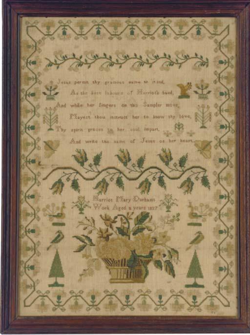 A SAMPLER BY HARRIOT MARY DURH