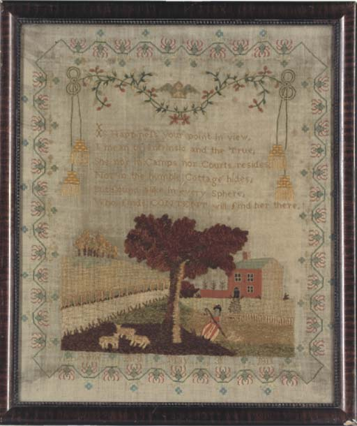A SAMPLER BY ANNE BIRD DATED 1