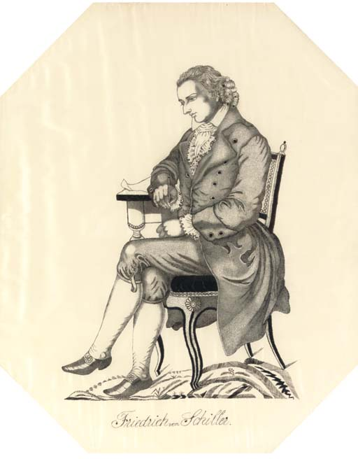 A SILKWORK PICTURE OF FRIEDRIC