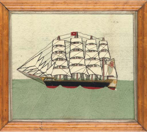 A WOOLWORK PICTURE OF THE SAIL