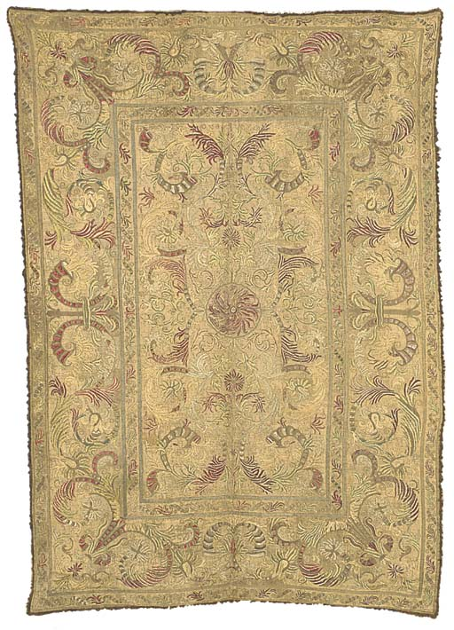 A NEEDLEWORK HANGING, PROBABLY