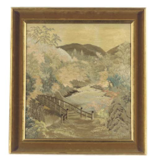 A JAPANESE EMBROIDERED PICTURE