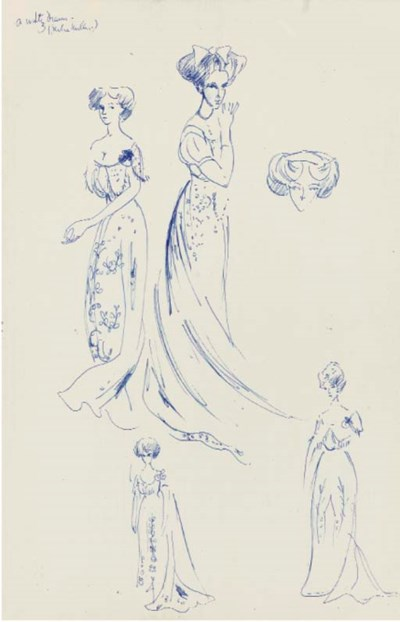 A sketchbook of costume and se