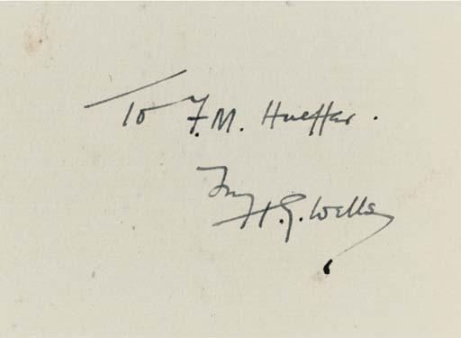 WELLS, H. G. (1866-1946). Firs
