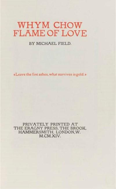 FIELD, Michael (pseud.) [ie. K