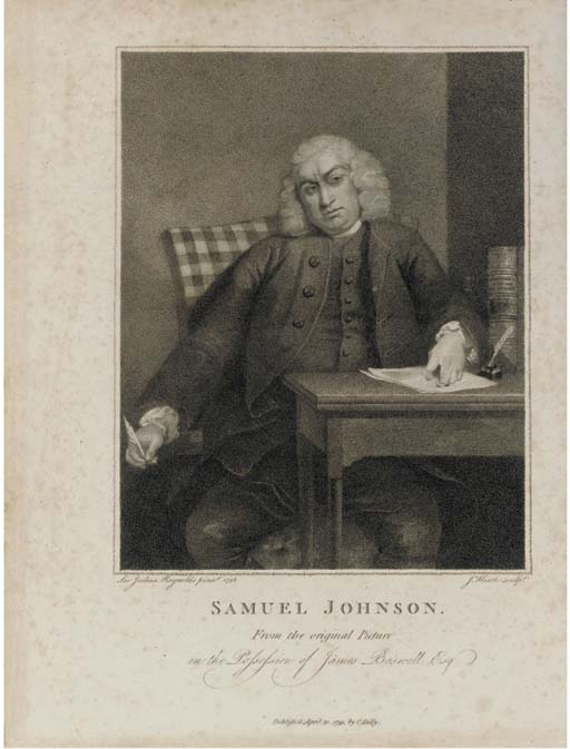 BOSWELL, James (1740-95).  The