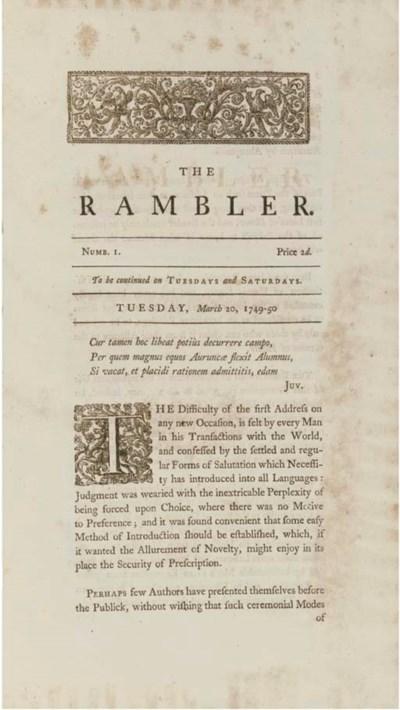 [JOHNSON, Samuel (1709-84)].