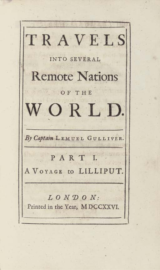 SWIFT, Jonathan (1667-1745).