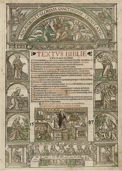 BIBLE, Latin, Selections.  Tex