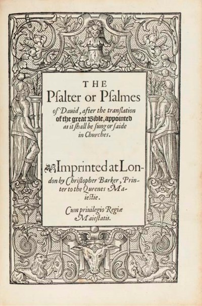 The Booke of Common Prayer [Th