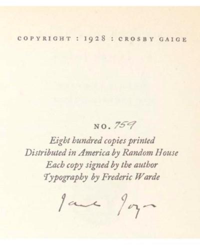 JOYCE, James (1882-1941). Anna