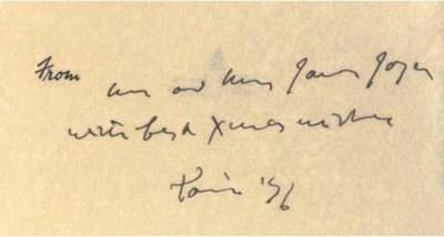 JOYCE, James (1882-1941). Chri