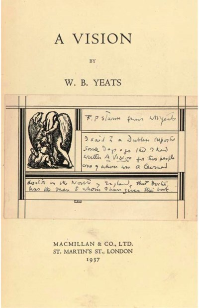 YEATS, W. B. (1865-1939).  A V