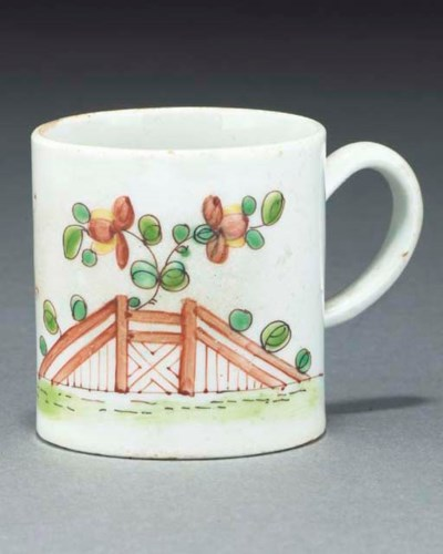 A Bow polychrome coffee-can