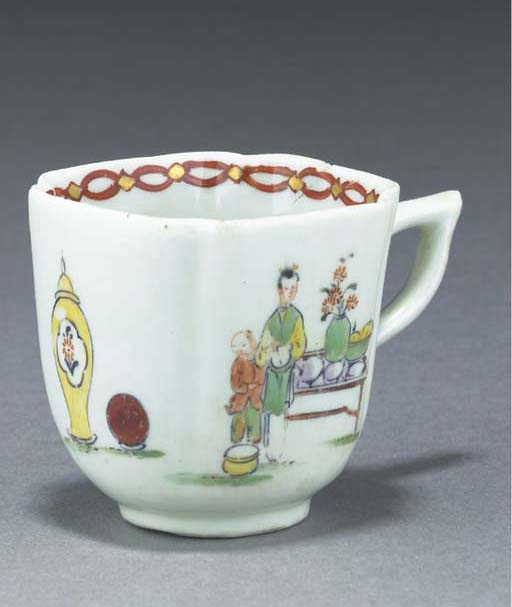 A Derby quatrefoil coffee-cup