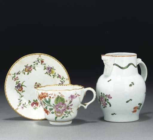 A quantity of Bristol (Champion's) teawares