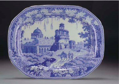 A Staffordshire pearlware blue