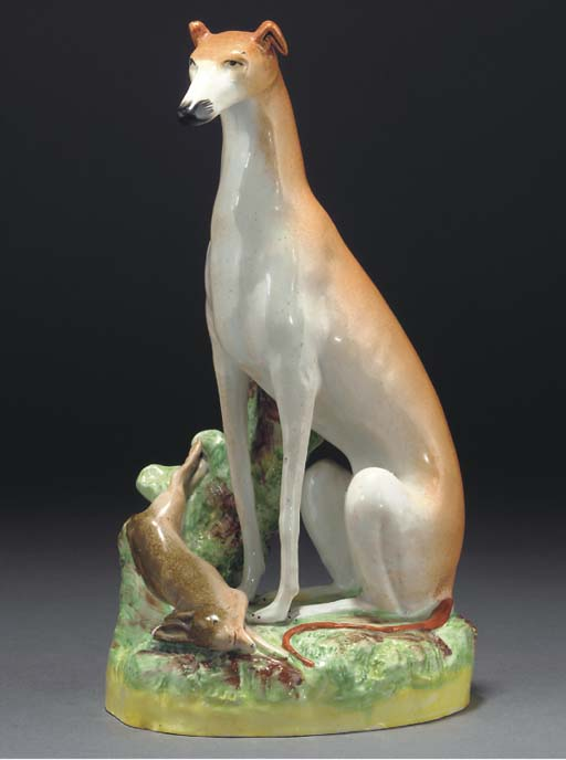 A STAFFORDSHIRE POTTERY MODEL