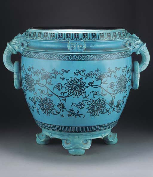 A Minton turquoise-ground two-