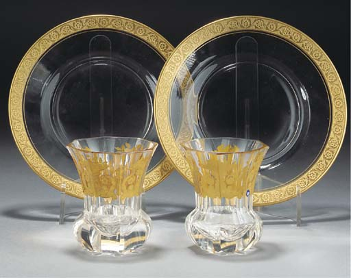 A QUANTITY OF GILT-GLASS ITEMS