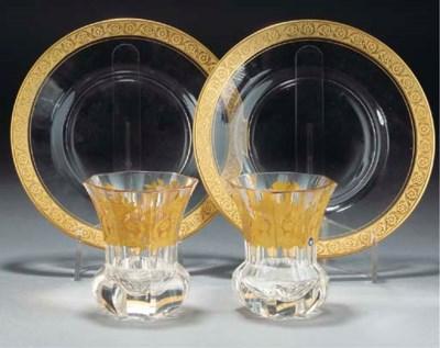 A QUANTITY OF GILT-GLASS ITEMS