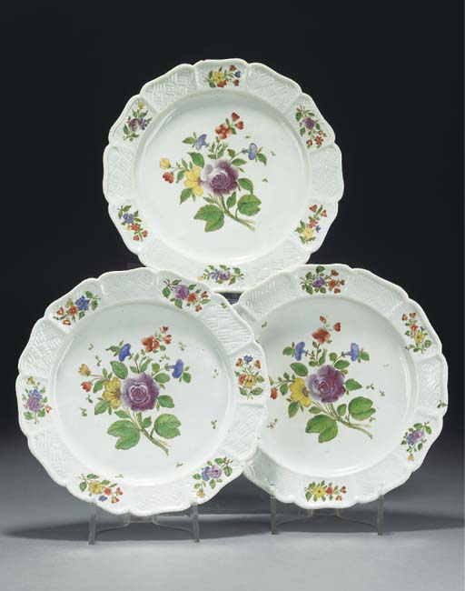 Six Doccia plates