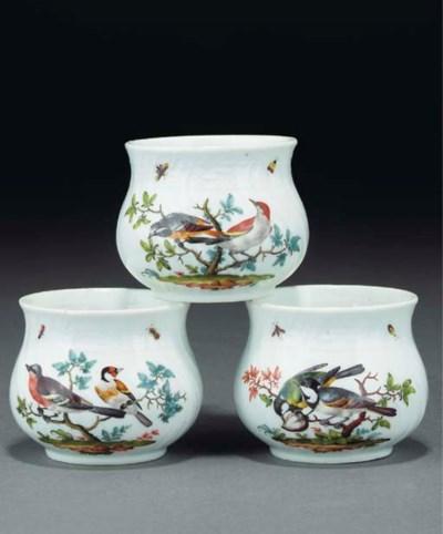 Three Meissen ornithological c