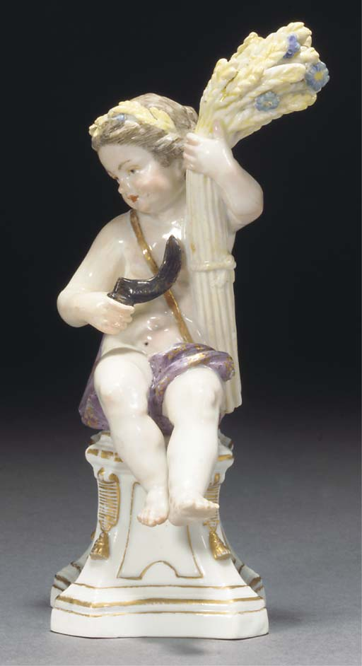 A Meissen figure of Summer
