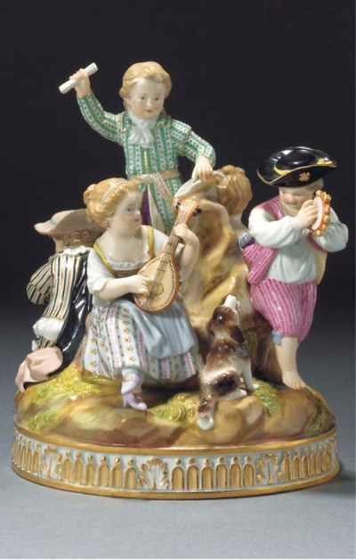A Meissen group of Music
