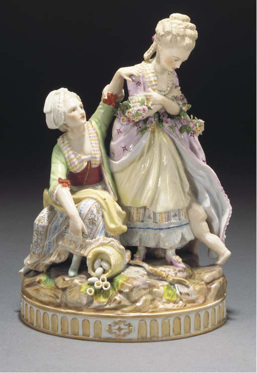 A Continental porcelain allego