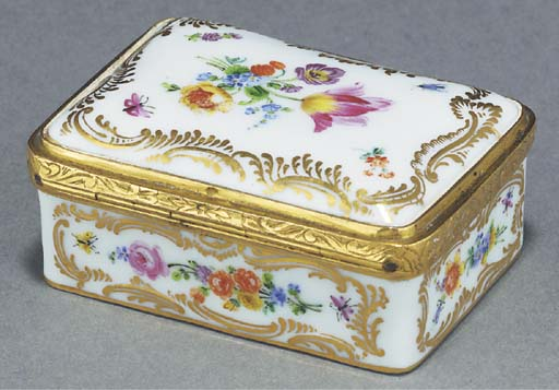A MEISSEN GILT-METAL-MOUNTED S