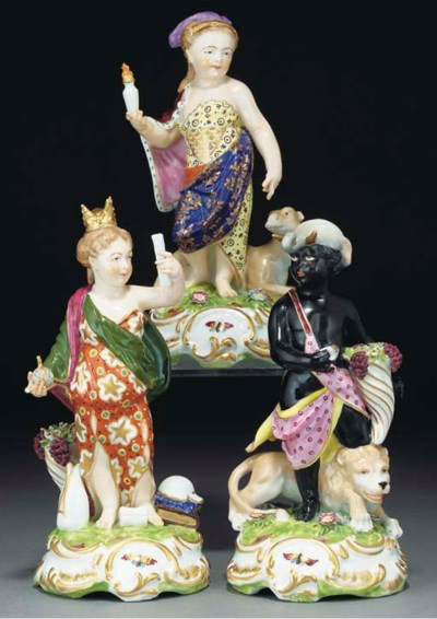 Three Continental porcelain fi