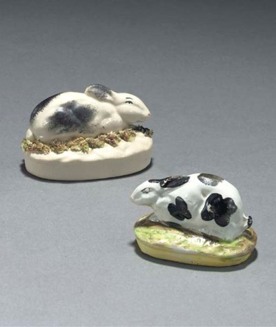 TWO STAFFORDSHIRE POTTERY MODE
