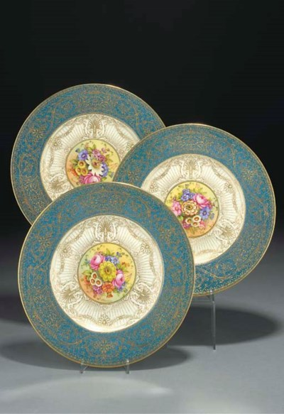 Six Royal Worcester plates
