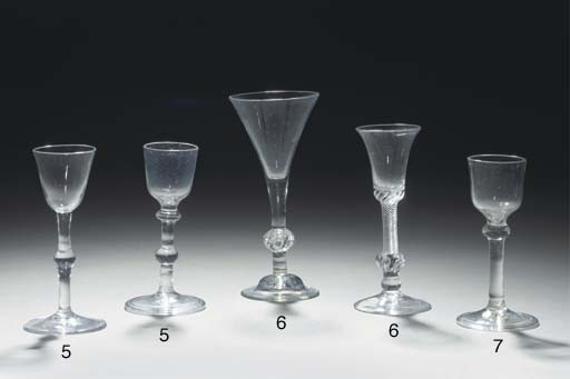 Two balustroid wine-glasses