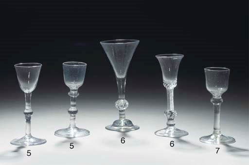 Five various wine-glasses