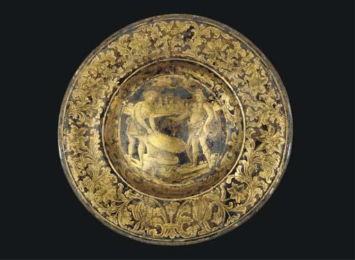 An Italian gilt-decorated ('ve
