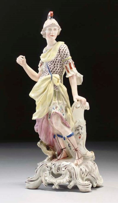 A BOW FIGURE OF MINERVA