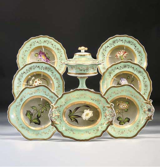 AN ENGLISH PORCELAIN PALE-GREE