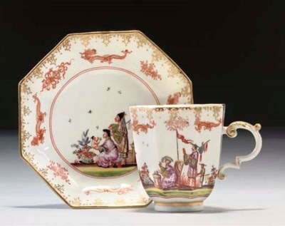 A MEISSEN CHINOISERIE FLARED O