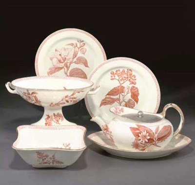 A WEDGWOOD PEARLWARE PART SERV