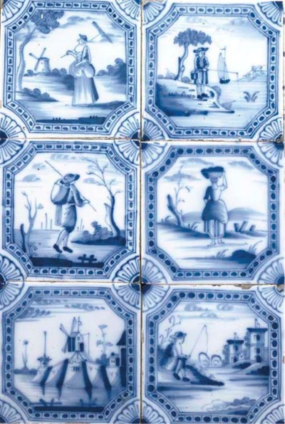A COLLECTION OF DELFT BLUE AND