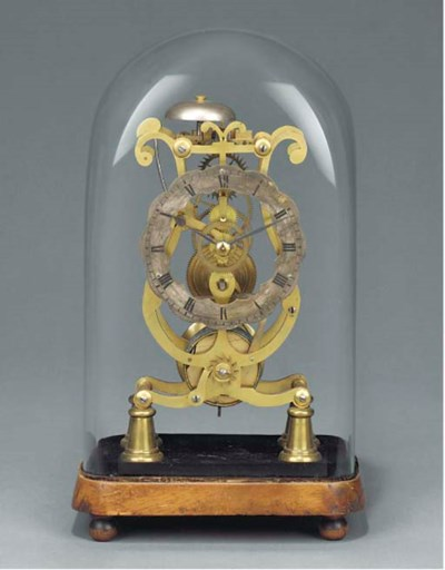 A Victorian brass lyre-frame s