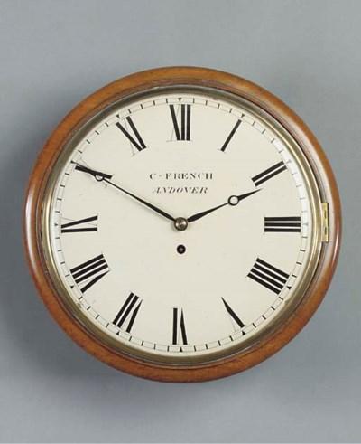 A Regency mahogany dial timepi