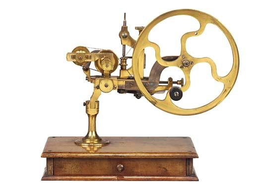 A Swiss brass and steel roundi