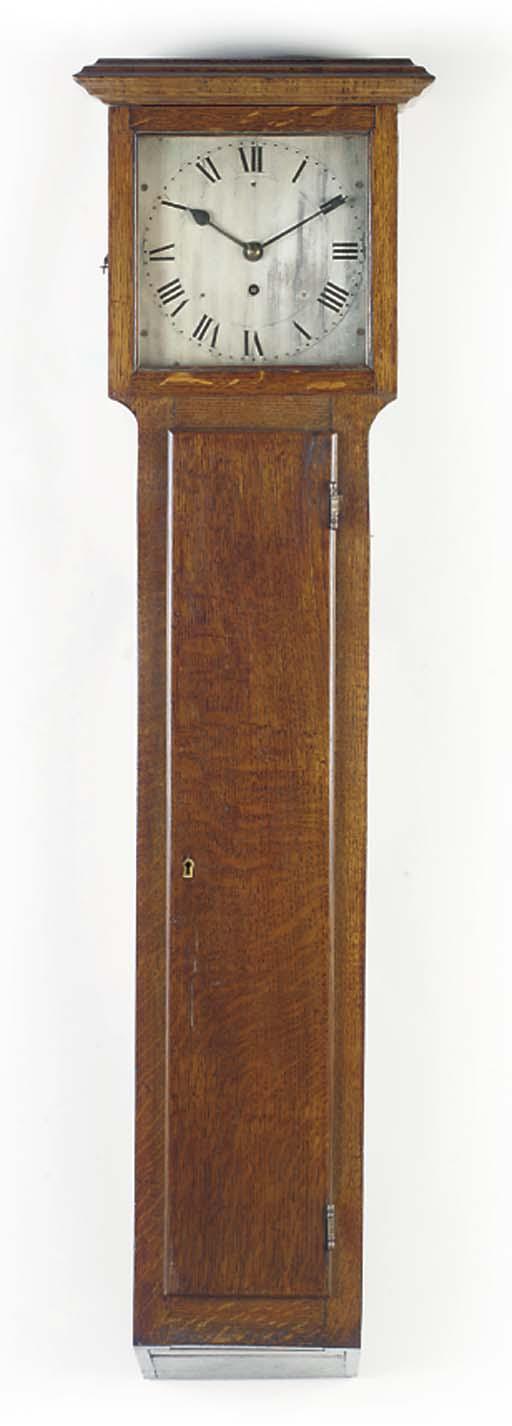 A Victorian oak trunk dial wal
