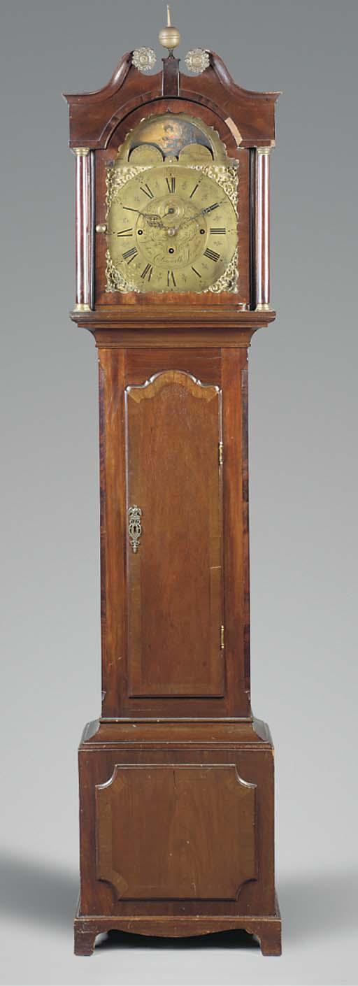 A Victorian mahogany quarter-chiming longcase clock, mid 19th century