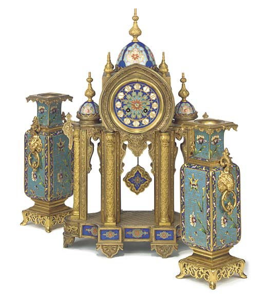 A French ormolu and cloisonné